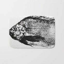 gyotaku - koi fish Bath Mat