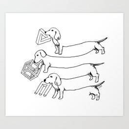 Escher's Other Dogs Art Print