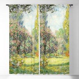 Landscape: The Parc Monceau (1876) by Claude Monet Blackout Curtain