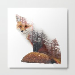 Misty Fox Metal Print