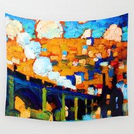 Robert Antoine Pinchon English Train Bridge Wall Tapestry
