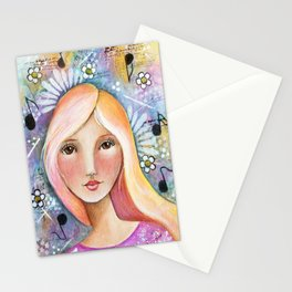 Brown Eyed Girl Stationery Cards