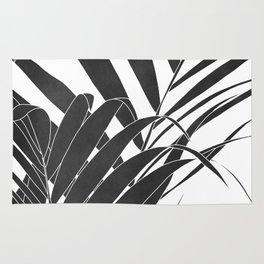 minimalist palm leaves Rug