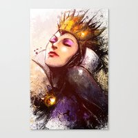 evil queen Canvas Prints featuring Evil Queen by Vincent Vernacatola