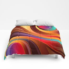 Abstract Colorful Swirls Comforters