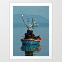 Bird on Boat Art Print