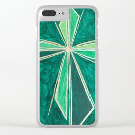Green Cross Clear iPhone Case