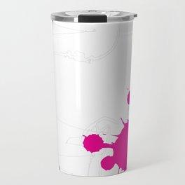 Magenta Abstract Rick Genest Travel Mug