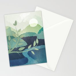 Peaceful Lake View 2 Stationery Cards