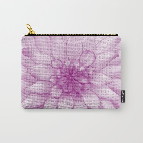 Dahlia Radiant Orchid  - JUSTART © Carry-All Pouch