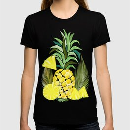 Pineapple Watercolor Fresh Summer Fruit T-shirt