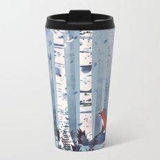 The Birches (in Blue) Metal Travel Mug