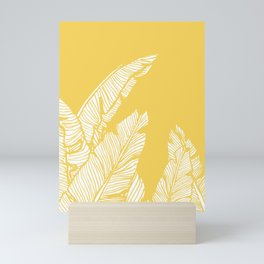 Banana Leaves on Yellow #society6 #decor #buyart Mini Art Print