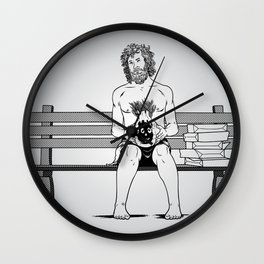 Forrest Gump in Castaway Wall Clock