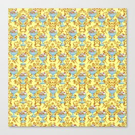 paisley yellow sundaes Canvas Print