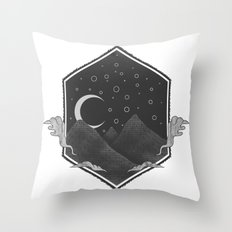 Dark Hills Throw Pillow