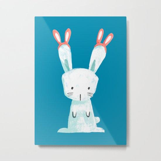 Four Eared Bunny Metal Print