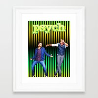 psych Framed Art Prints featuring Psych by KP Designs