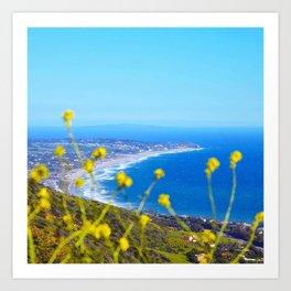 Malibu Flowers Art Print
