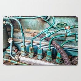 FoMoCo Generator Motor - Teal Industrial Art Photo Cutting Board