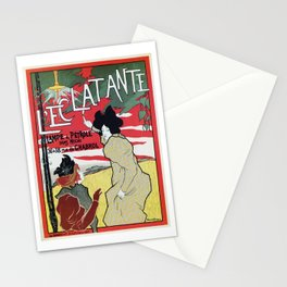 The Brilliant 1895 French Art Nouveau ad Stationery Cards