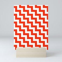 White and Scarlet Red Steps LTR Mini Art Print