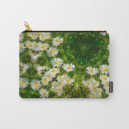 Message In The Daisies Carry-All Pouch