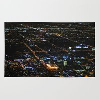 oklahoma Area & Throw Rugs featuring Oklahoma City by Nadege Torrentgeneros