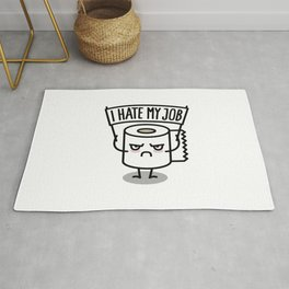 I hate my job -  Toiletpaper Rug