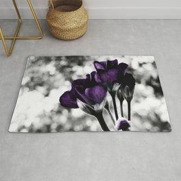 Purple Flowers Pop Of Color Rug
