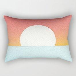 Sunset Watercolor Rectangular Pillow