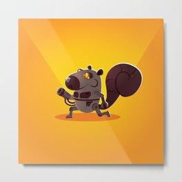 Robo Squirrel Metal Print