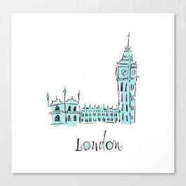 London (Big Ben) Canvas Print