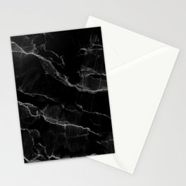 Smoke Black Marble Stationery Cards