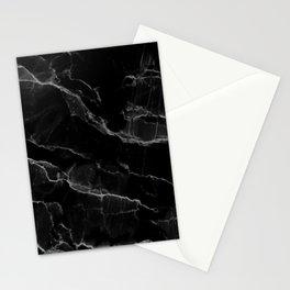 Smoke Black Marble Stationery Cards