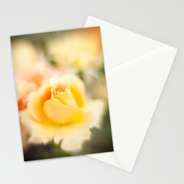 Rose yellow Stationery Cards