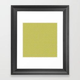 Quatrefoil Lime Framed Art Print