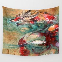 DRAGON KOI Wall Tapestry