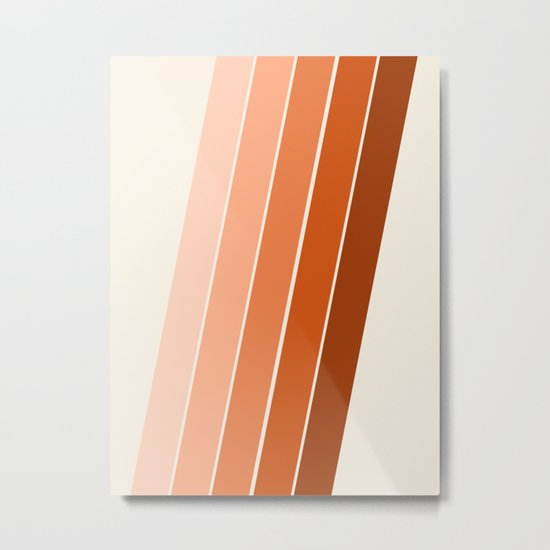 The Skinney - 70's abstract minimal stripe striped pattern retro throwback 1970s art decor Metal Print