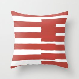 Big Stripes In Red Throw Pillow