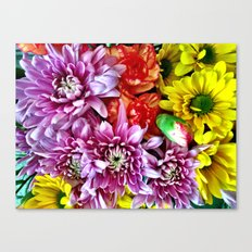 Spring Flower Bursts Canvas Print
