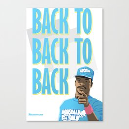 Back to Back to Back Canvas Print