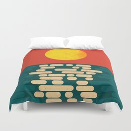 Sun Over The Sea - Afternoon Duvet Cover