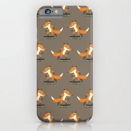 Skateboarding fox iPhone Case