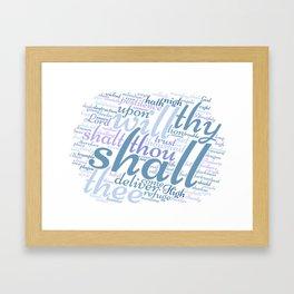 Christian Psalm 91 Word Art Framed Art Print