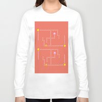 pacman Long Sleeve T-shirts featuring Pacman by CATHERINE DONOHUE