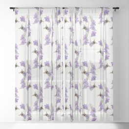 Watercolor Bumble Bee Sheer Curtain