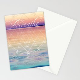 Breathe - Reminder Affirmation Mindful Quote Stationery Cards