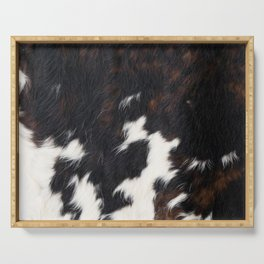 Cowhide Texture Serving Tray