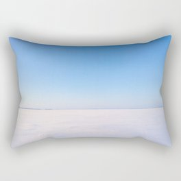 Snowy Lake Ice and Blue Sky Rectangular Pillow